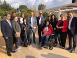שגריר צרפת בישראל אריק דנון ובכירי השגרירות עם בכירי העירייה