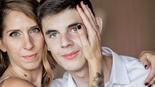 מיקי מריינפלד פרדמן עם בנה