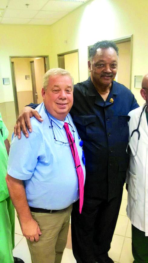 עם הכומר ג'סי ג'קסון   צילום: פרטי