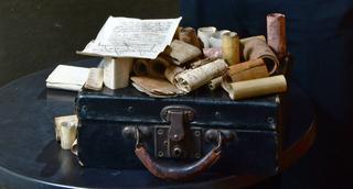 המזוודה שהגיעה לספרייה הלאומית   צילום: רפי קוץ