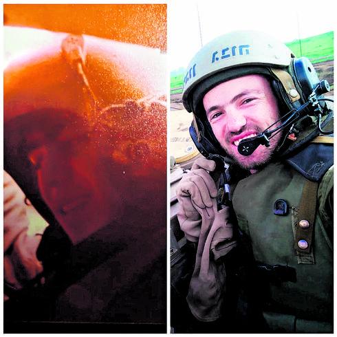 """רס""""ן אורי באט ואביו   צילום: דובר צה""""ל"""