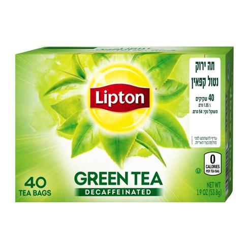 """תה ליפטון ללא קפאין. יח""""צ"""