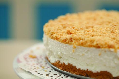 עוגת גבינה פירורים מושלמת של קרין גורן